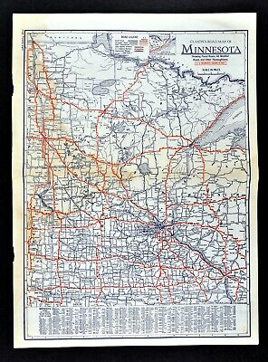 1930 Clason Road Map Minnesota Minneapolis St Paul Cloud Duluth Grand  Rapids Ely | eBay