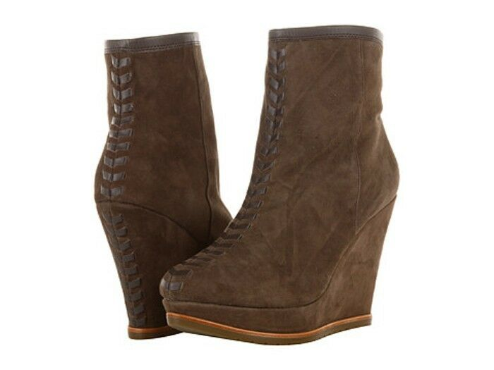 New Isola  modern style  Zurich wedge suede  boots  women's size 9.5