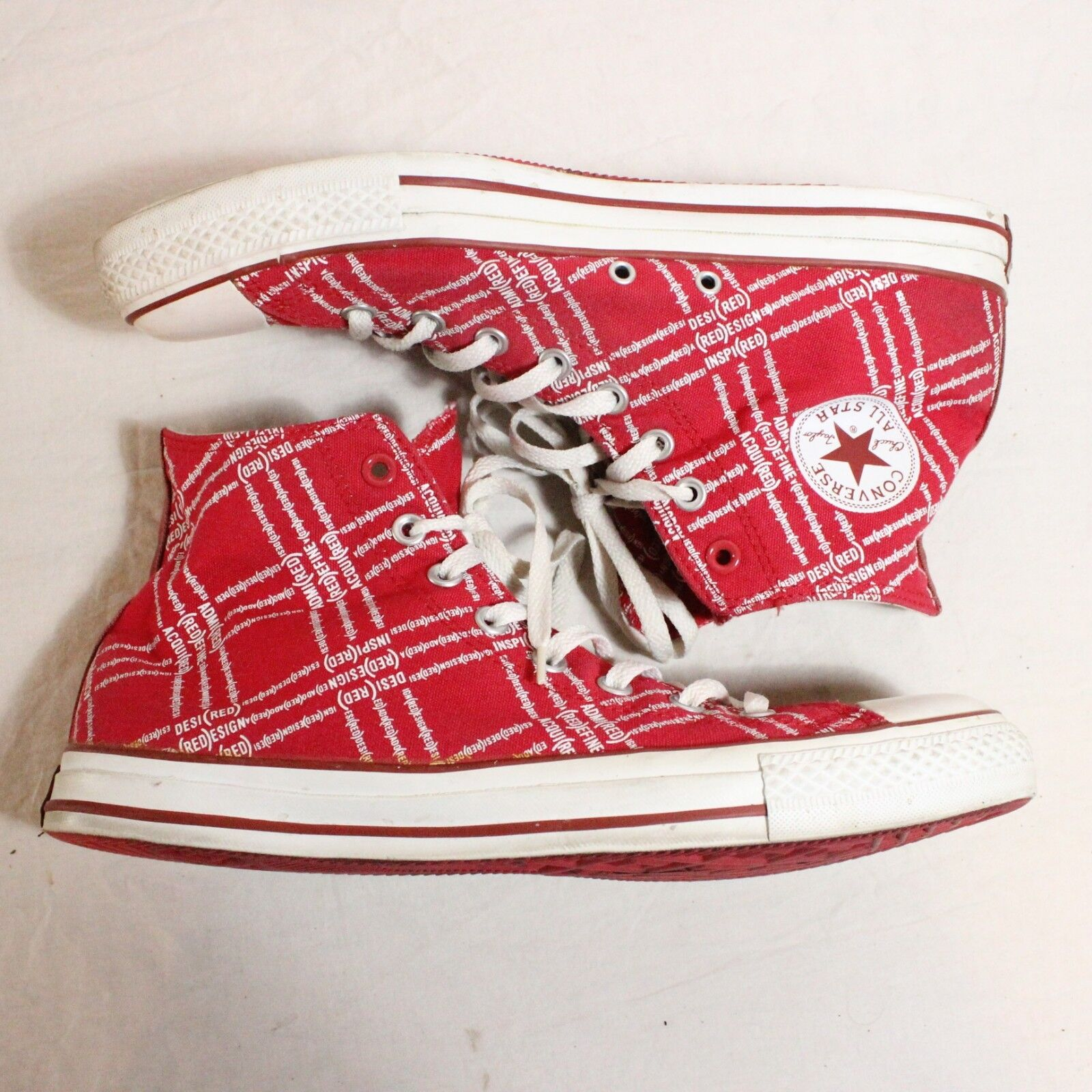 Chuck Taylor Converse alta (Product) Aids Awareness joinred (Product) alta Rojo todo Star 49c81b