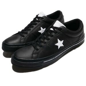 1c72ed25de48 Converse One Star Terry Leather Black White Men Shoes Sneakers ...
