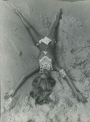 PHOTO VINTAGE : Jean Clemmer NUES Paco Rabanne 1969 sexy - tirage argentique 01