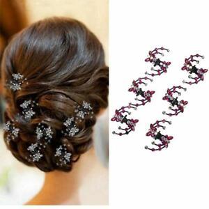 Rhinestone Clips Hair Accessories Colorful papillon hairclip femme fashion