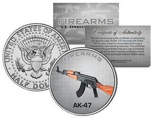 AK-47-Gun-Firearms-JFK-Kennedy-Half-Dollar-US-Colorized-Coin