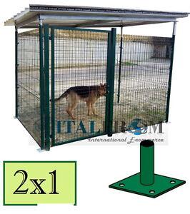 Gabbia Box Recinto Modulare Per Cani In Rete Metallica Tetto Lamiera