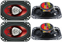 4) Boss Ch4620 4x6 400w 2-way Car Audio Coaxial Speakers Stereo Red on sale