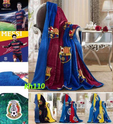 Soccer Football Team Sherpa Lining Throw Blanket 50x60