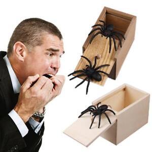 Streich-Spinne-aus-Holz-Scare-Box-Home-Office-Witz-Gag-Spielzeug-Kinder-Spi-Y7K6
