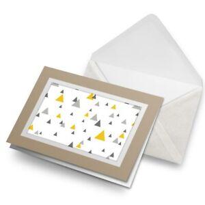 Greetings-Card-Biege-Yellow-Grey-Black-Triangle-Tree-Ski-24586
