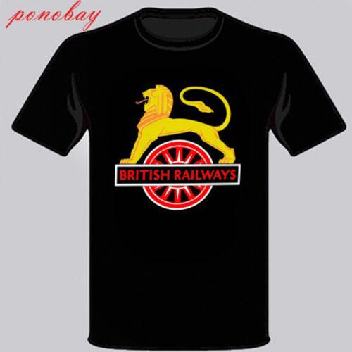 New British Railways Logo Trains Model Men/'s Black T-Shirt Size S to 3XL