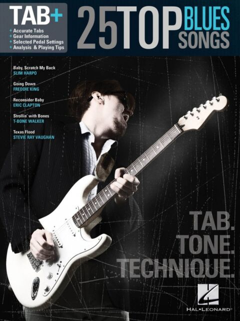 25 Top Blues Songs Guitar Notes & Tab Sheet Music Melody Chords ...