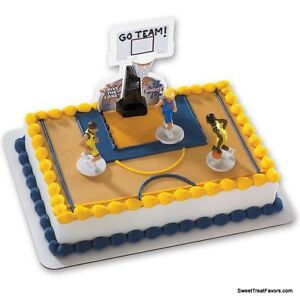 Image Is Loading Basketball Cake Decoration Topper Kit Cupcake Birthday Boy