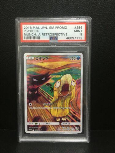 2018 Pokemon Japanese Munch Promo PSA 9 286//SM-P #286 Psyduck Scream MINT