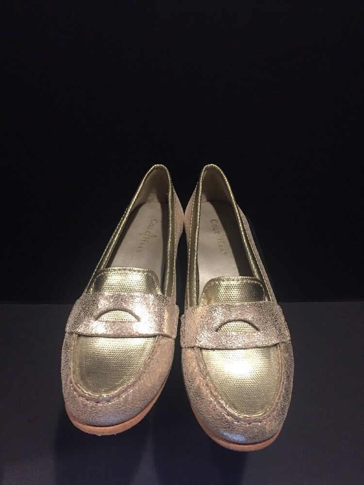 Cole Haan NikeAir Women's Metallic Loafers Loafers Loafers gold Size 9.5 New c6d30c