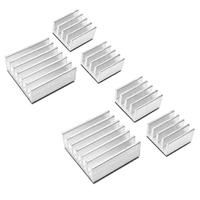 10 X Aluminum Heat Sink for StepStick A4988 IC Thermal Adhesive 8.8*8.8*5mm