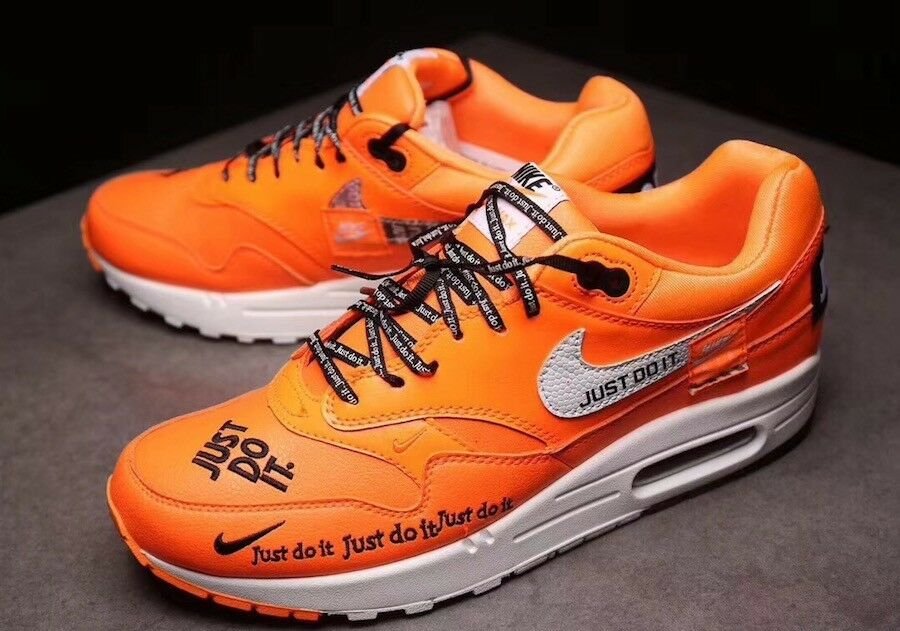 Deadstock Nike Air Max 1  Just Do It  collection Men's Size 11 orange Sneaker