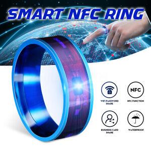 NFC Multifunctional Intelligent Smart Ring Wear Finger Digital Titanium   ~