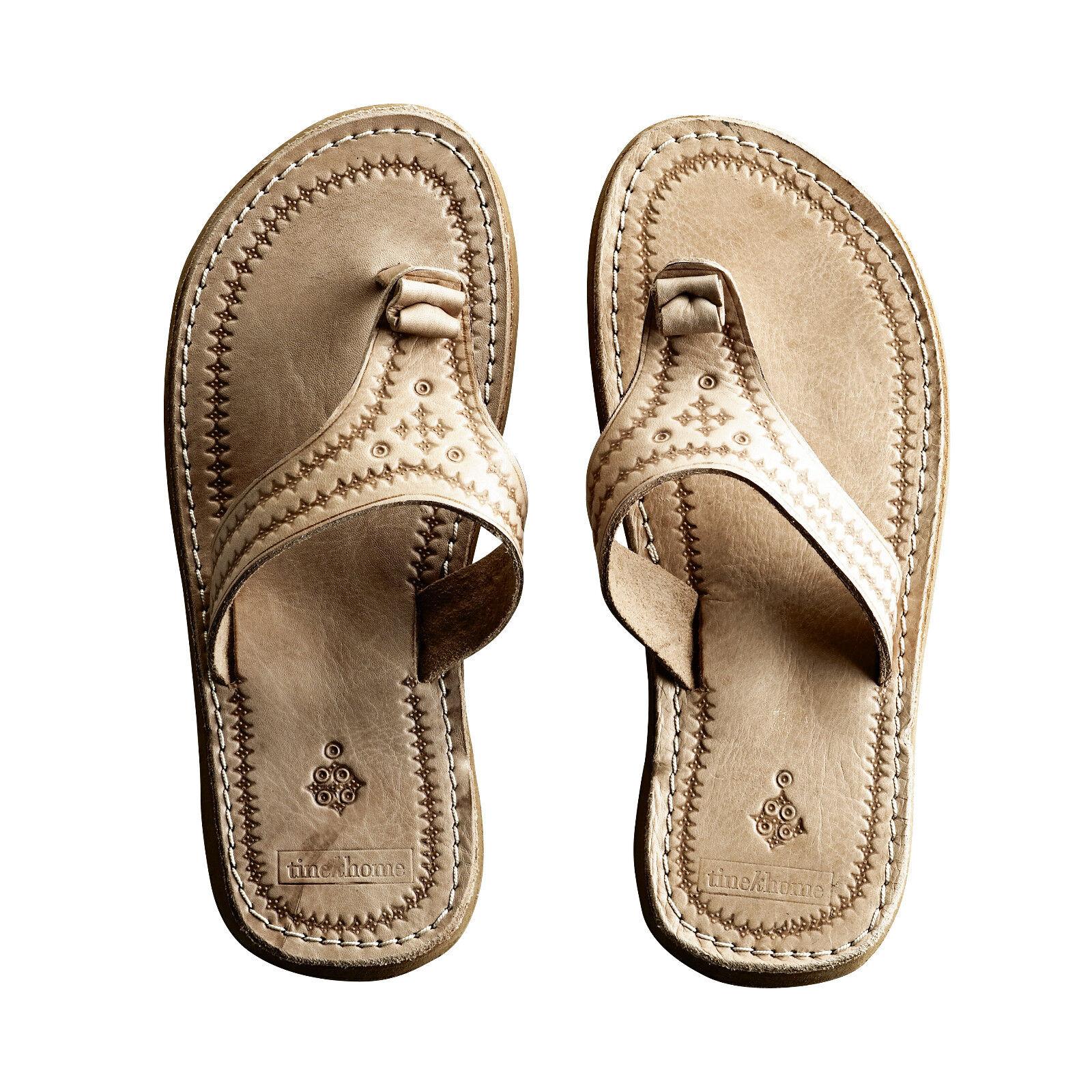 Tine K Home Zehentrenner Sandale Leder Stil Marokko Handarbeit Gr. 41