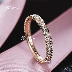 18K-ROSE-WHITE-YELLOW-GOLD-GF-CRYSTAL-WEDDING-BAND-ENGAGEMENT-RING