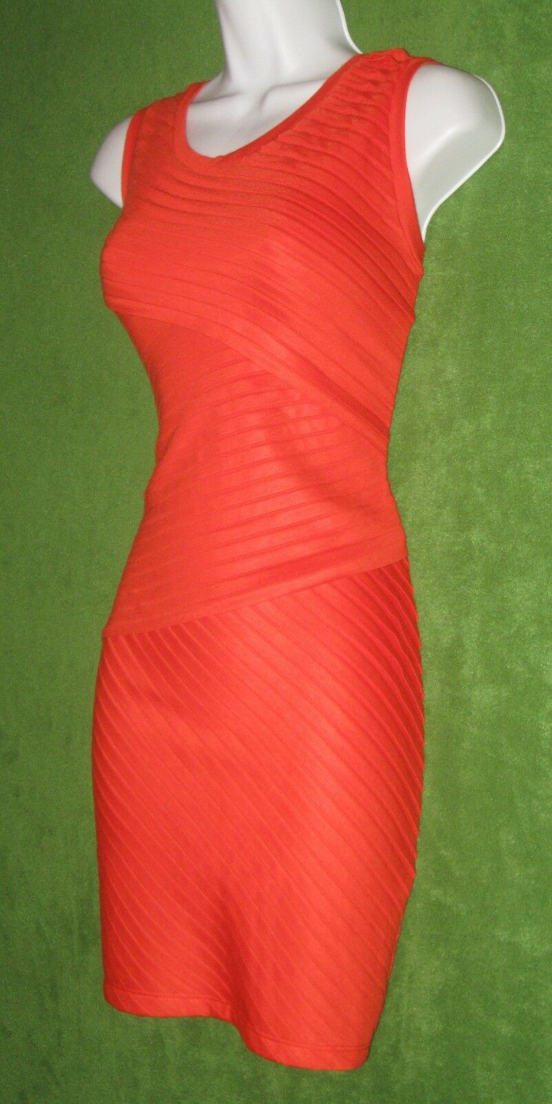 Kandy orange Shutter Pleat Stretch Casual Social Work Dress 10  MISC