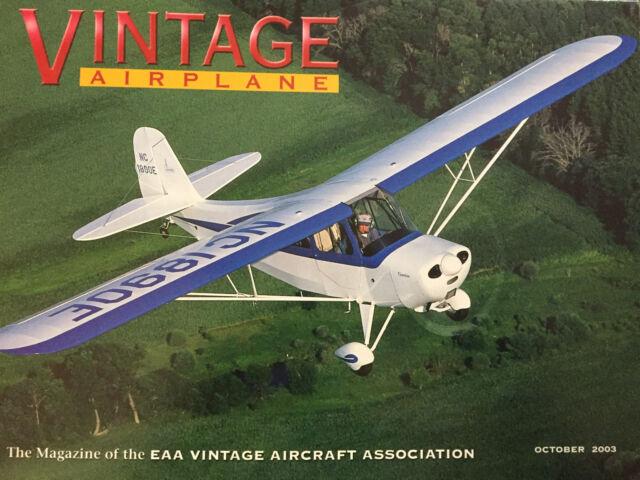 VINTAGE AIRPLANES MAGAZINE OCTOBER 2003 *AIRVENTURE 2003