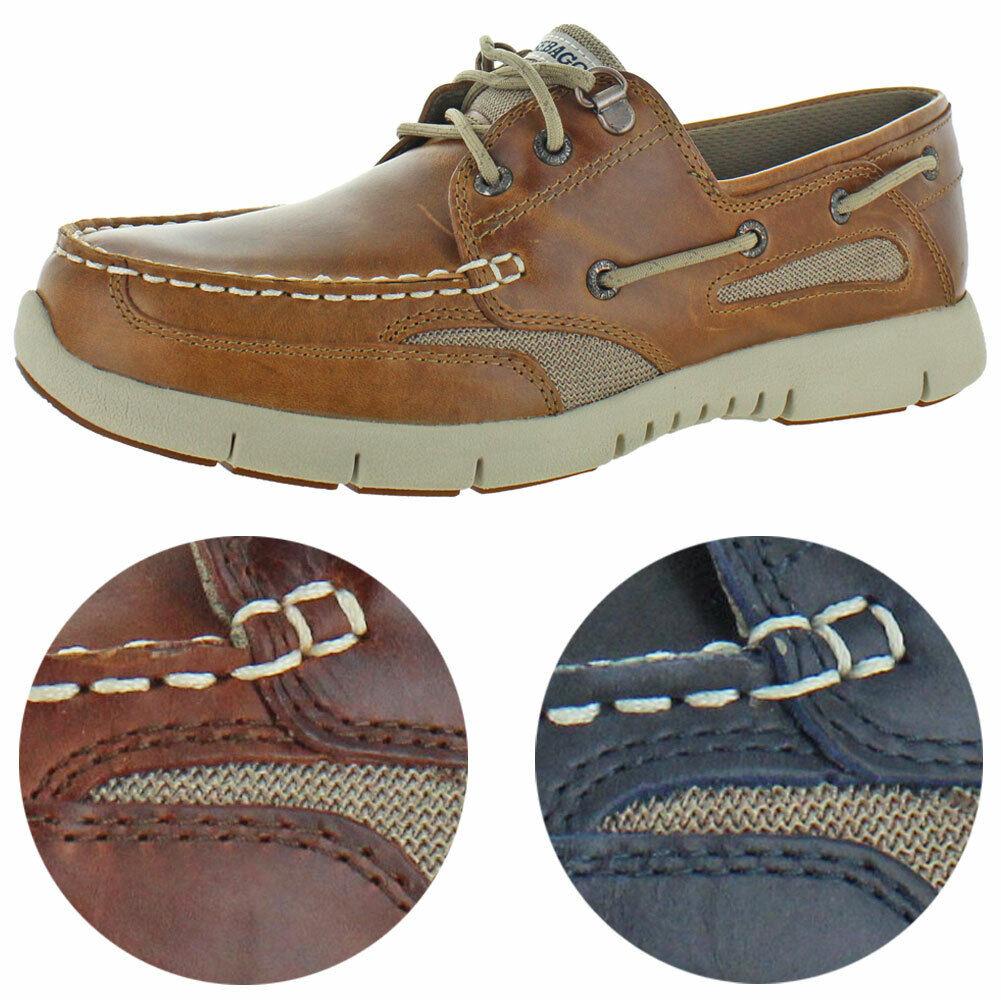 Sebago Men/'s Clovehitch Leather Moc Toe Slip On EVA Casual Boat Shoes