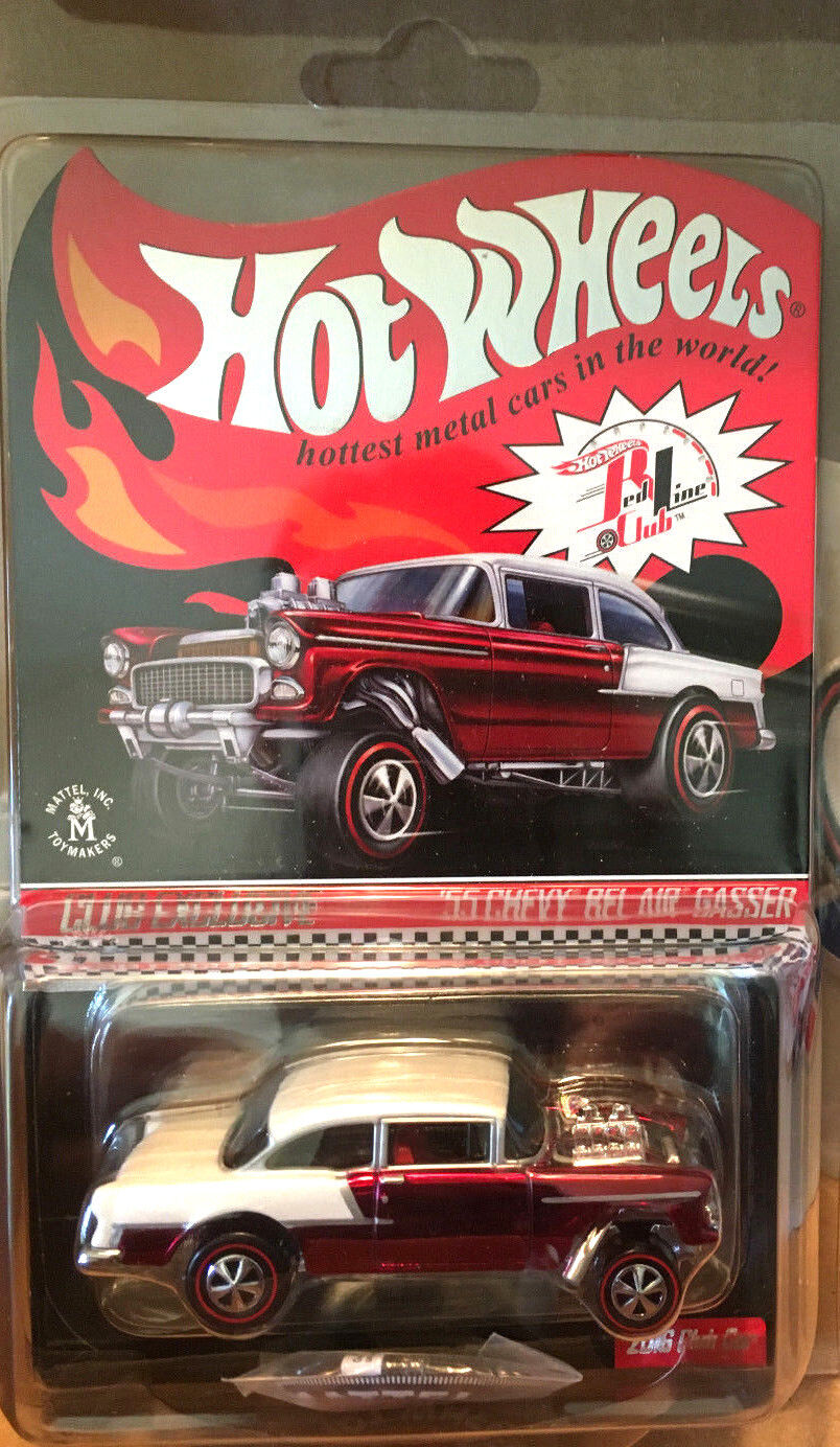 Hot Wheels RLC Exclusive CLUB Membership '55 Chevy Bel Air GASSER rosso 4014/4650