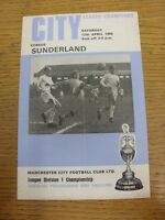 12/04/1969 Manchester City v Sunderland  (folded). Thanks for viewing this item,