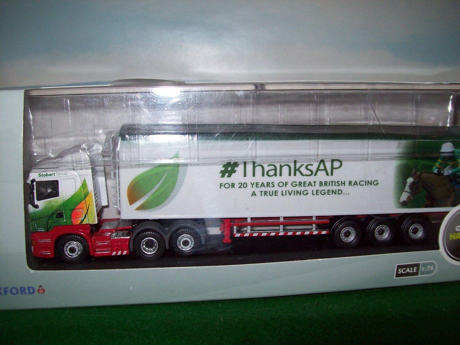 Oxford Diecast camión 1 76 Scania caminar piso Stobart pre producción Raro