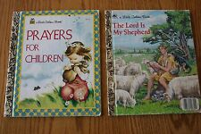 """LOT of 2 """"a LITTLE GOLDEN BOOKS"""", THE LORD IS MY SHEPHERD & PRAYERS FOR CHILDREN"""