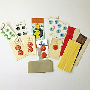 vintage green sewing button lot