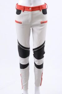 Givenchy-white-multi-6-S-38-leather-colorblock-ribbed-biker-moto-pant-NEW-4195