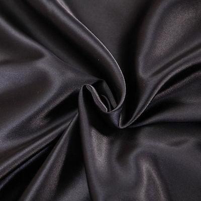 800 TC SOFT SATIN SILK COMPLETE BEDDING COLLECTION 3 PCS DUVET COVER BLACK COLOR