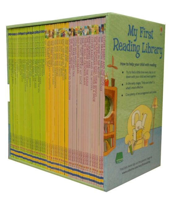 Usborne Very First Reading Library 50 Books Set Collection Pack - Read At  Home