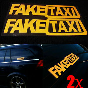 Funny-2pcs-FAKE-TAXI-Car-Auto-Sticker-Self-Adhesive-Vinyl-Decal-FakeTaxi-Tips