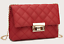 Small Little Girl Quilted Mini Clutch Handbag Red Black Lavender White Kid Purse