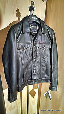 Nwt Schott Nyc Trucker LEATHER* Jacket  RARE #100 MADE IN USA SIZE SMALL