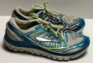 Shoes Running Blue Gray Neon Green