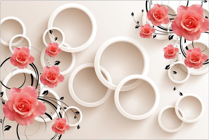 3D 3D 3D Weiße Kreise 5 Fototapeten Wandbild Fototapete Bild Tapete Familie Kinder | Billig ideal  | Ausgezeichnete Qualität  | Genialität  6656e6