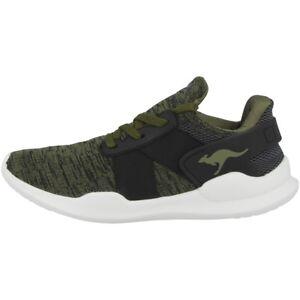 Kangaroos-K-Muse-Chaussures-De-Sport-Loisirs-Sneaker-Baskets-Black-Olive-18284-5031