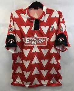 Bournemouth-Match-Worn-Pennock-2-Home-Football-Shirt-1992-93-L-Matchwinner
