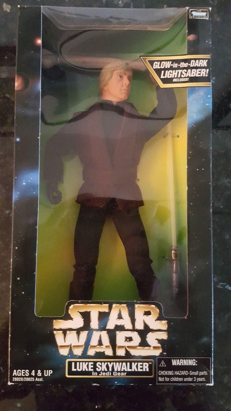 1998 Kenner Collectors Series 12  Luke Skywalker In Jedi Gear w  Glow Lightsaber