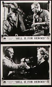 HELL IS FOR HEROES Original Lobby Card Steve McQueen Nick Adams 1962 War movie