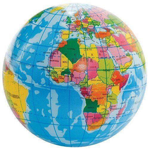 Planet Earth Stress Palla-Mondo Globe-Schiuma-lo stress sollievo-UFFICIO-Regalo Divertente