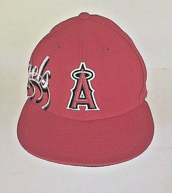 best deals on bf50d a92b4 ... discount new era 59fifty los angeles hat anaheim angels game fitted hat  angeles red mlb cap