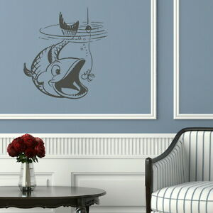 Fish-Taking-Bate-Wall-Art-Sticker-Large-Vinyl-Transfer-Graphic-Decal-Decor-x22
