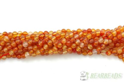 Red Carnelian Natural Agate Gemstones Round Beads 4mm 6mm 8mm 10mm 12mm 15.5/""