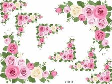 Breathtaking Chic Large Furniture Size Rose Decals Shabby