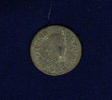 "FRANCE  ORANGE  GUILLAUME-HENRI of NASSAU  1661 ""1/12 ECU"" SILVER COIN, AU+"