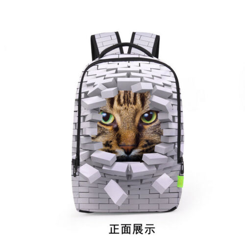 Women Men 3D Galaxy Travel Satchel Backpack Rucksack Shoulder Bookbag School Bag