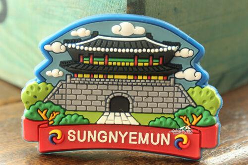 Sungnyemun Korea Seoul Tourist Travel Souvenir 3D Rubber Fridge Magnet Gift